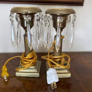 Lot # 99 Vintage Electric Candle Glass Icicle Lights