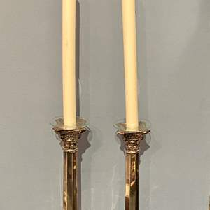 Lot # 107 Vintage Silver-Plate (Un-Marked) Candlesticks