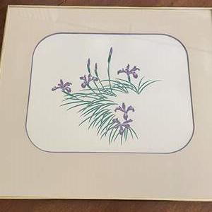 Lot # 111 Iris Painting, Numbered and Signed