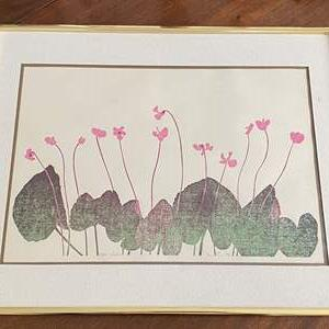 Lot # 113 Cyclamen Art, Artist Signed and Numbered