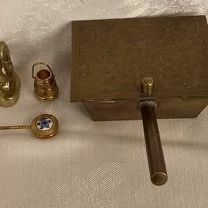 Lot # 118 Vintage Brass Butler, Figurines, etc