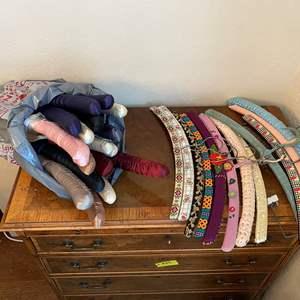 Lot # 132 Vintage Wood Hangers and Satin Hangers