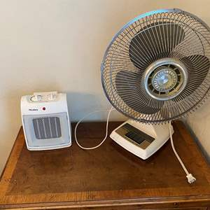 Lot # 141 Lot of Fan and Portable Heater Works!