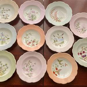 """Lot # 143 Lot of 11 Floral Plates Marked """"C & M"""""""