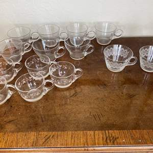 Lot # 145 Lot of 4 Patterns Glass / Crystal Cappuccino Cups