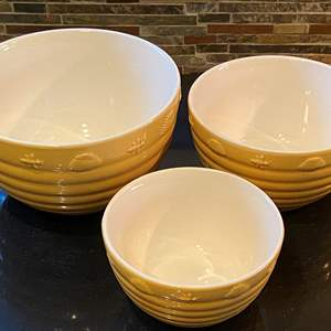 Lot # 153 Lot of 3 Sur La Table Honey Comb Style Bowls