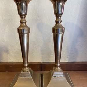 Lot # 181 Pair of Brass Candlesticks