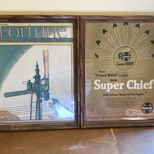 """Lot # 184 Lot of """"Fortune"""" and """"Super Chief Santa Fe"""" Prints"""