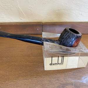 Lot # 186 Dunhill Pipe and Acrylic Holder