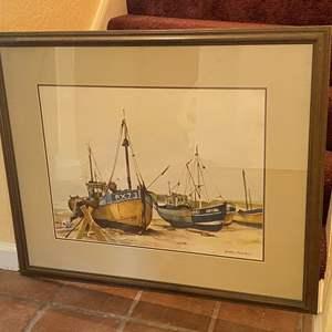 Lot # 193 Large Boat Framed Print