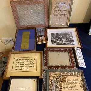 Lot # 197 Lot of Frames and Religious Quotes