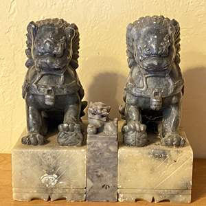 Lot # 203 Chinese Dragon Bookends or Figurines