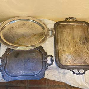 Lot # 209 Lot of Silver-Plate Platters