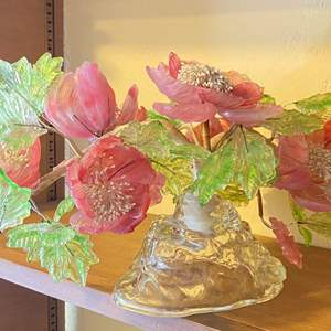 Lot # 210 Gorgeous Glass Floral Wired Bouquet