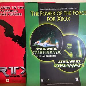 """Lot # 221 PlayStation 2 and Xbox Posters - """"The Power of the Force"""" and """"RTX Red Rock"""""""