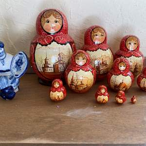 Lot # 236 Russian Doll and Figurine