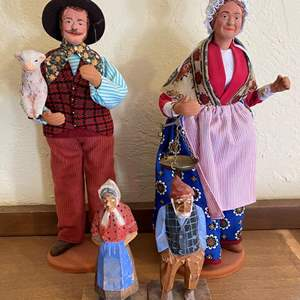 Lot # 237 Lot of Wood and Terracotta Figurines