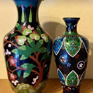 Lot # 241 Lot of 2 Asian Vases