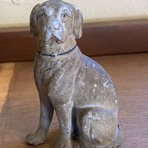 Lot # 242 Porcelain Dog with Personal Note Inside (Dating Dog to late 1800s)
