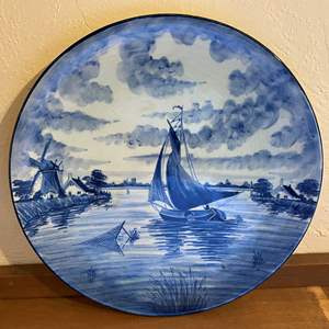 Lot # 267 Large Hand-Painted Plate Decor