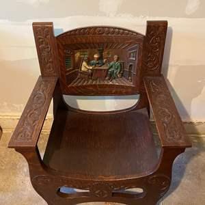 Lot # 282 Vintage Wood Chair