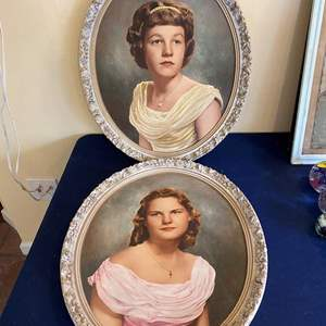 Lot # 306 Lot of 2 Young Ladies Portraits