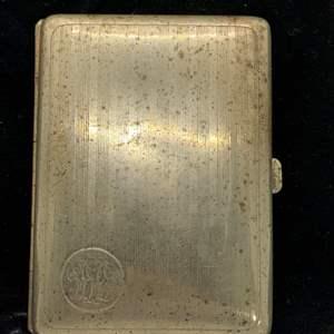 Lot # 2 Monogrammed German Silver Cigarette Case