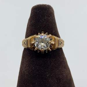 Lot # 11 Ladies 18K Yellow Gold Diamond Engagement Ring