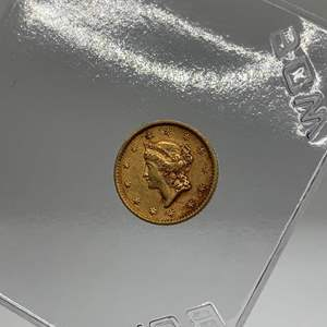 Lot # 15 1852 $1 Type 1 Gold Coin