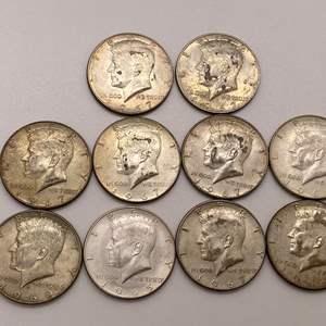 Lot # 17 Lot of 1965-1969 Kennedy Half Dollars Type 2
