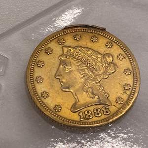 Lot # 21 Liberty Head $2.5 1888 Gold Coin