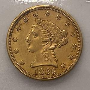 Lot # 22 Liberty Head $2.5 1889 Gold Coin