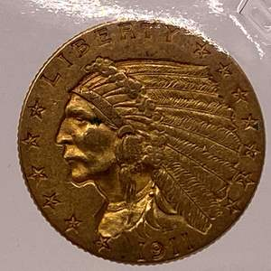 Lot # 25 Indian $2.5 1911 Gold Coin