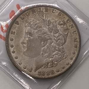 Lot # 35 Morgan Dollar 1886