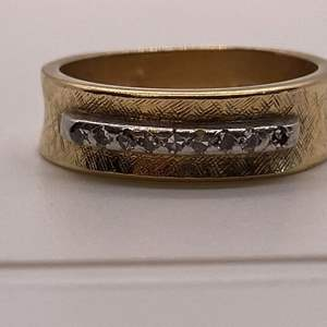 Lot # 47 14K Yellow Gold Band with Diamond or CZ