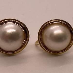 Lot # 48 Vintage Naomi 14K Screw Back Earrings