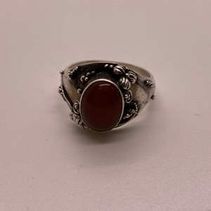 Lot # 50 Sterling 925 Ring with Amber Stone