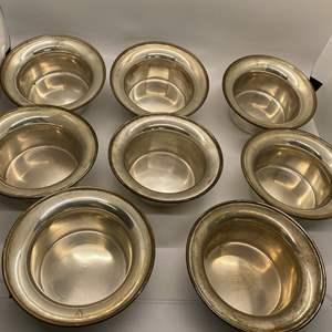 Lot # 56 Set of 8 Shreve Treat & Eacret Sterling Bowls