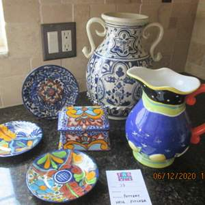 33-Colorful Serving Pieces, 6 Items