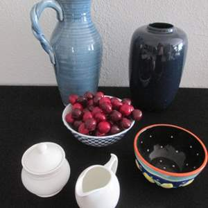 34-Colorful Serving Pieces, 6 Items