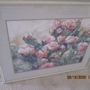 28-Floral Framed Art Work