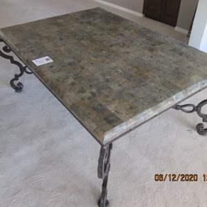 19-Coffee Table, Metal Base