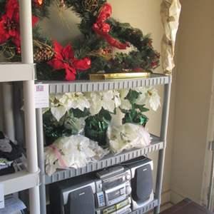 72-Assorted Wreaths, Florals, Birds Nest, 3-Tier Shelf