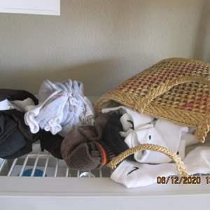 79-2 Dozen Pair Socks & Basket
