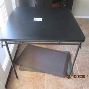 114-Card Table & 2-Rubber Floor Mats