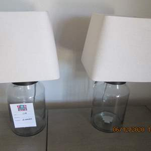 119-2-Lamps, Glass Jar Style Bases