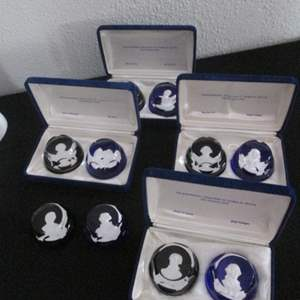 130-Franklin Mint Crystal Cameo Collection Paperweights, 10 Items
