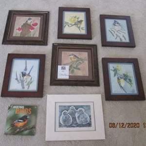 55-Assorted Framed Bird Pictures