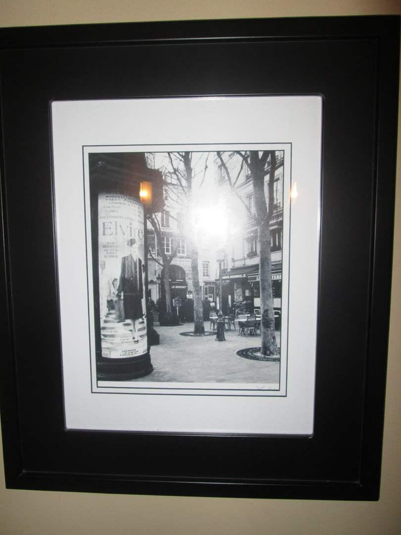 Lot # 13 - Set of 2-Framed Street Scene Pictures (main image)