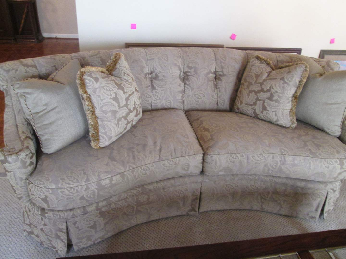 """Lot # 16 - 94"""" Curved & Channeled-Style Sofa by Thomasville (main image)"""